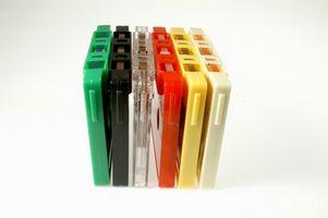 Hvordan lage kassetter til CDs benytter en bærbar datamaskin