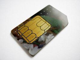 Hvordan overføre SIM-kortdata med en iPhone