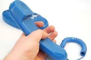 Tekst til en fasttelefon