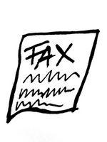 Sende en fakstone til en faksmaskin