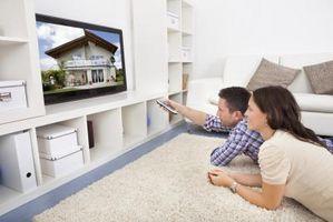 Hvordan skjule kabelboksen fra en Wall Mount TV