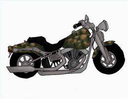 Hvordan male Camo på motorsykkel