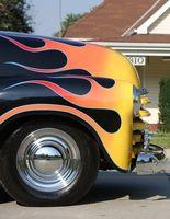 Hot Rod bil viser i Los Angeles, California