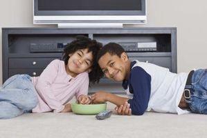 Hvordan skjule ledninger i en TV-stativ