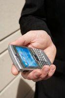 Hvordan å sette en tekstmeldinger ringetone på en BlackBerry Curve 8310