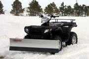 Hvordan lage en snø plog blad for en ATV